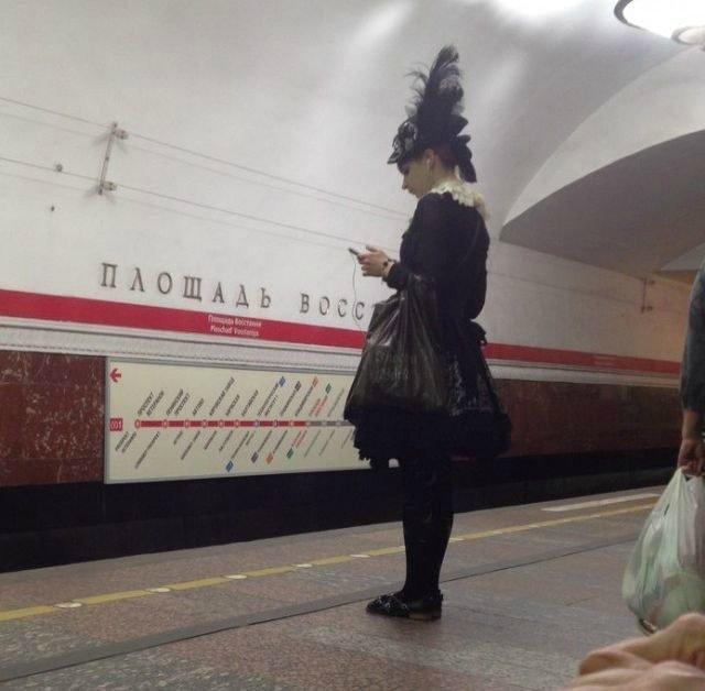 чудики в метро 11