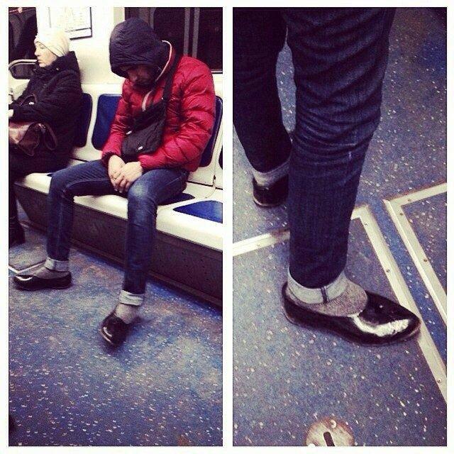 чудики в метро 14