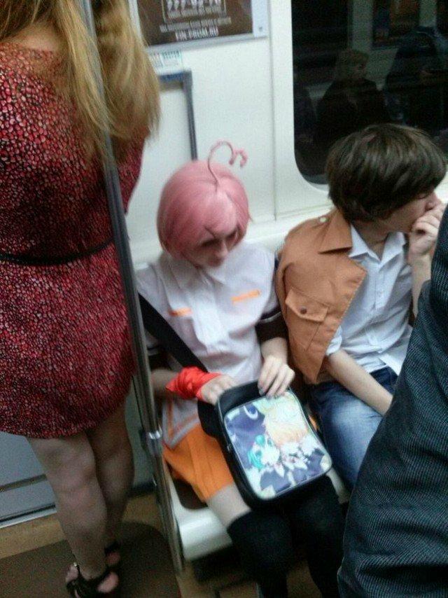 чудики в метро 21