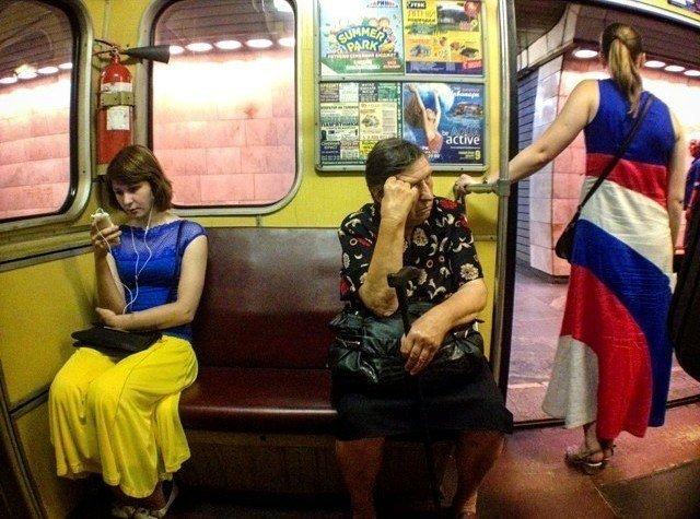 чудики в метро 26