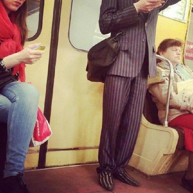 чудики в метро 3