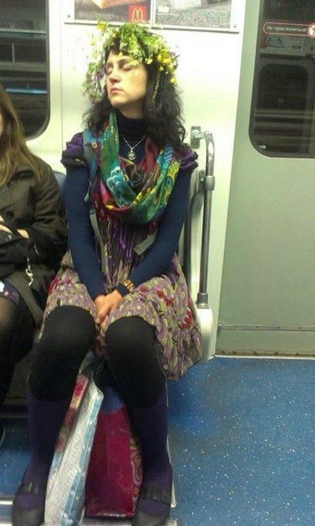 чудики в метро 7