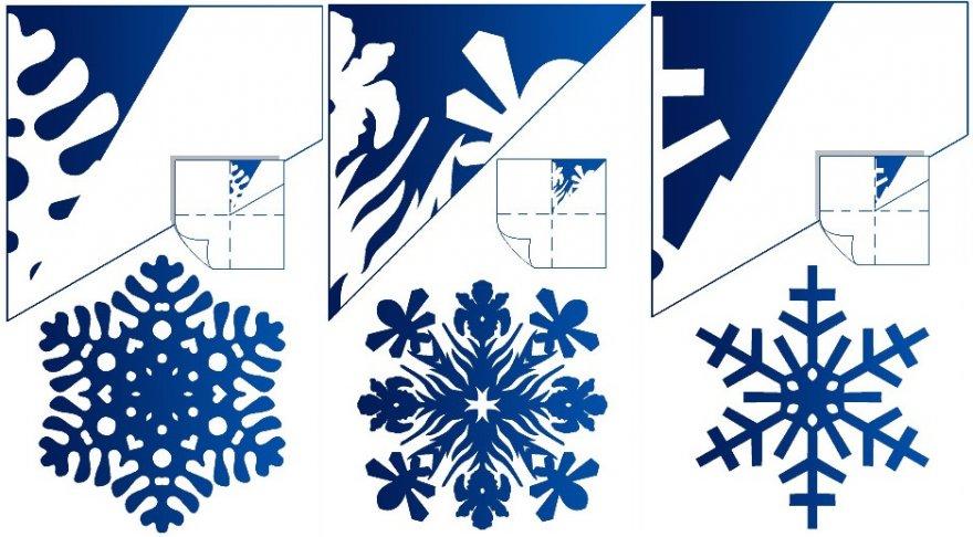 Шаблоны как сделать снежинку из бумаги