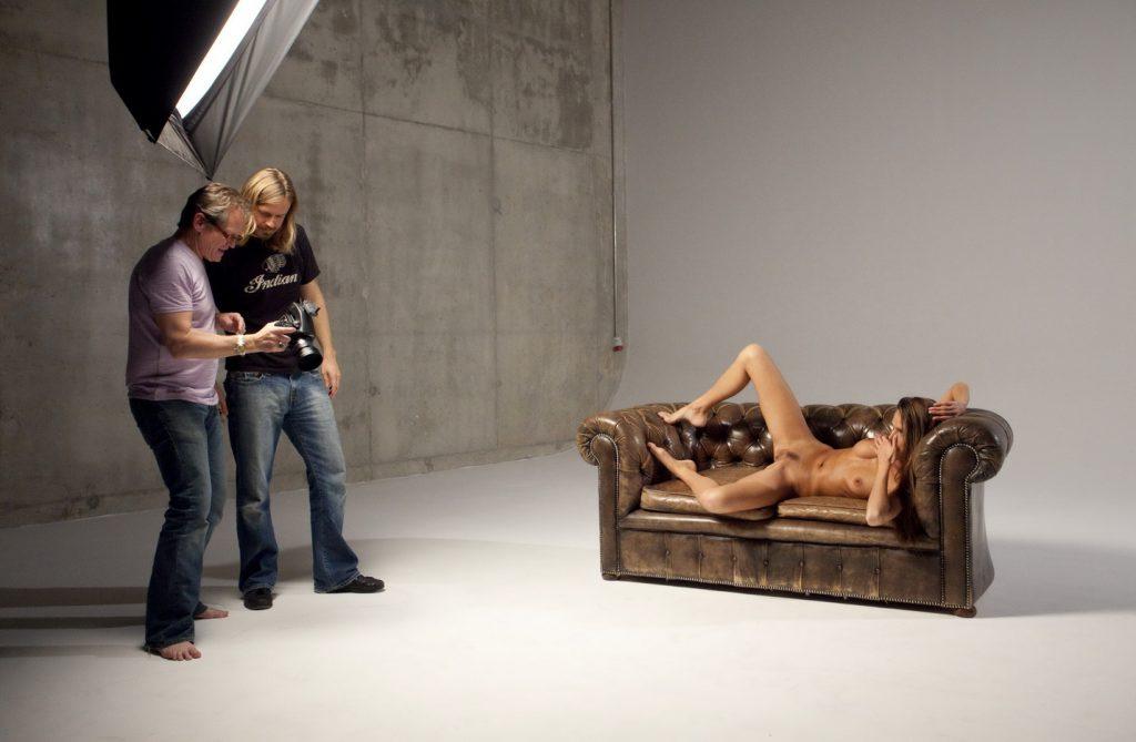 Порно в фотостудии