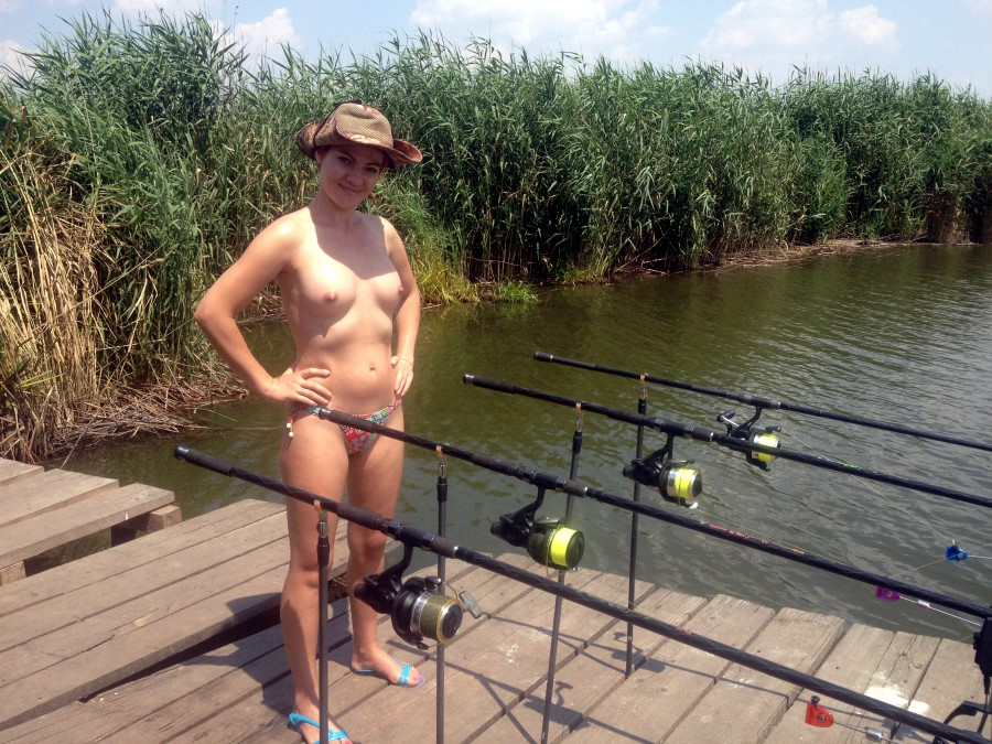 Wife fishing nude photo — 15