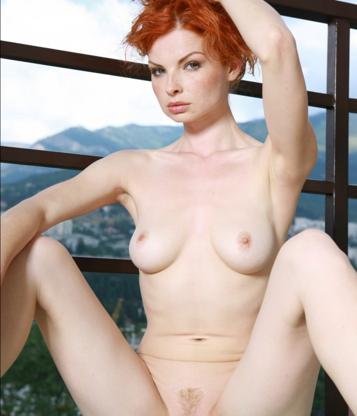 Nude redhead women legs spread, mature woman young cock