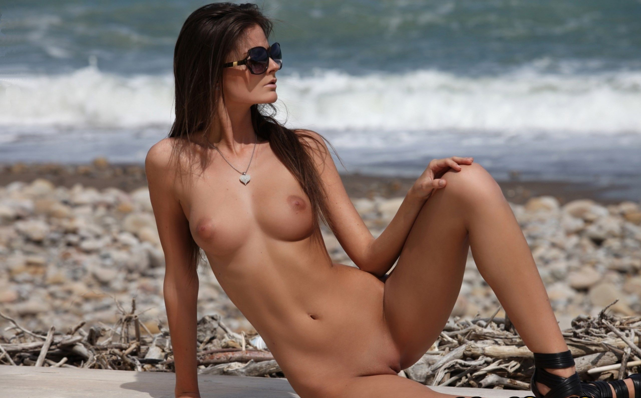 Naked beach model video #11