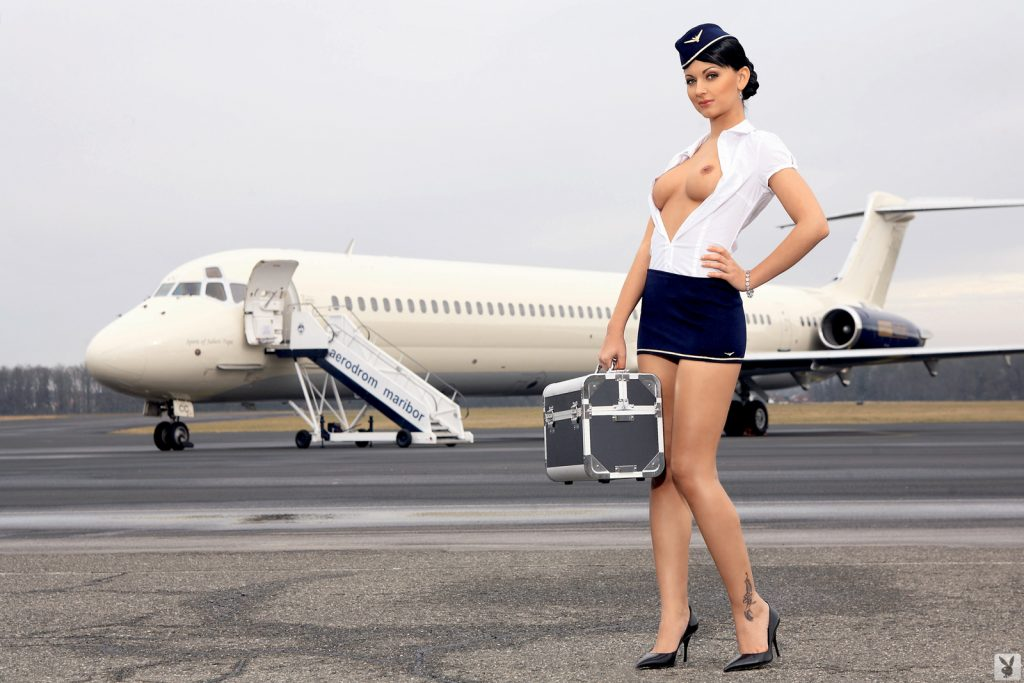 Attendant flight hot sexy — 7