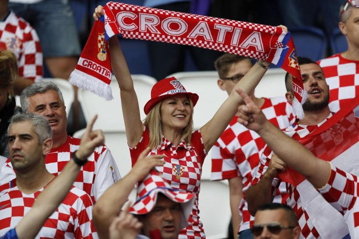 Football Soccer - Turkey v Croatia - EURO 2016 - Group D - Parc des Princes, Paris, France - 12/6/16 Croatia fans before the match REUTERS/Darren Staples Livepic