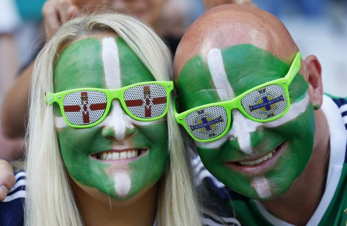 Football Soccer - Poland v Northern Ireland - EURO 2016 - Group C - Stade de Nice, Nice, France - 12/6/16 Northern Ireland fans before the match REUTERS/Yves Herman Livepic