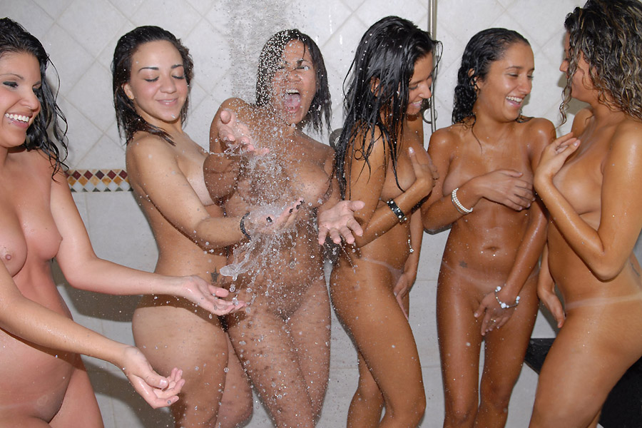 Nude girls shower, french nude beach pictures
