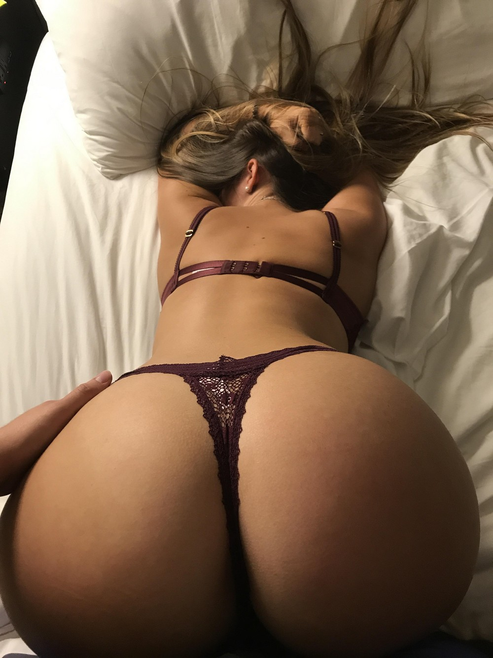Blonde escort sexy thong and ass
