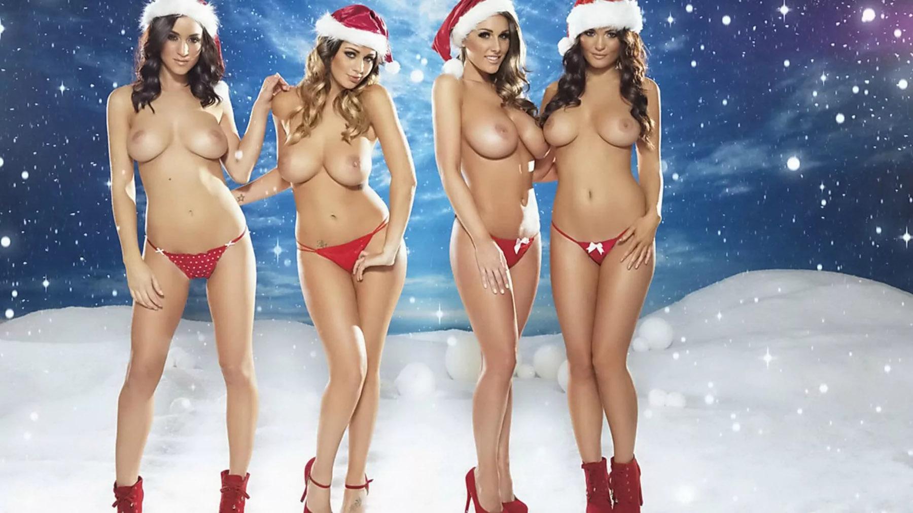 Sexy Christmas Santa Girls Nude