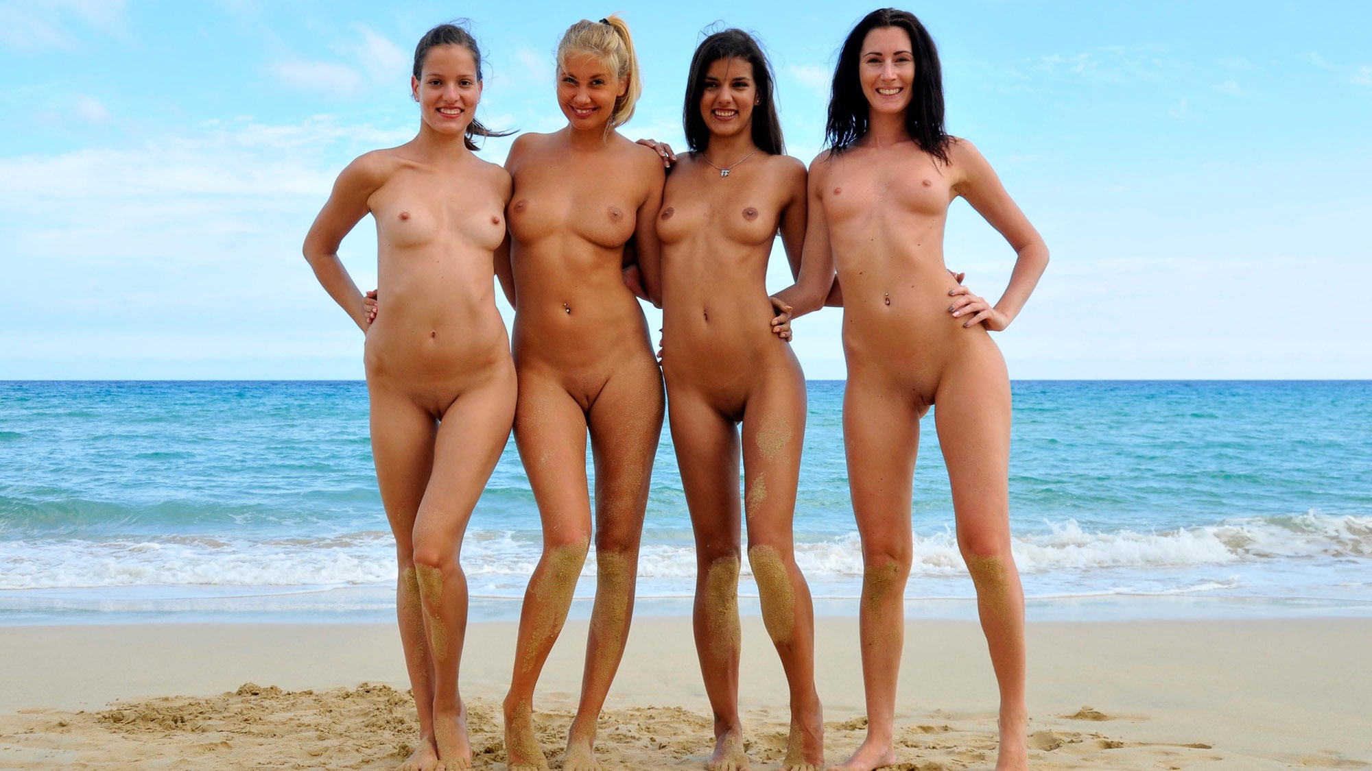 Your spank naked hot horny girls at beach