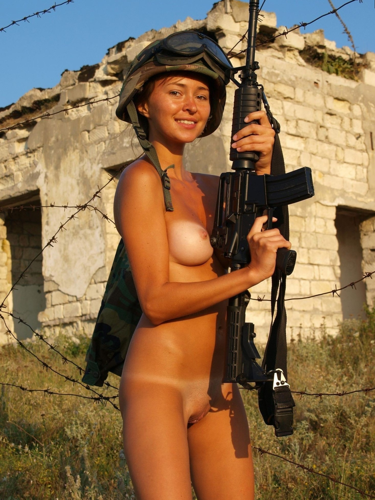 Military females topless — img 5